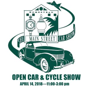 OPEN CAR CYCLE SHOW Homestead Main Street - Florida classic 2018 car show
