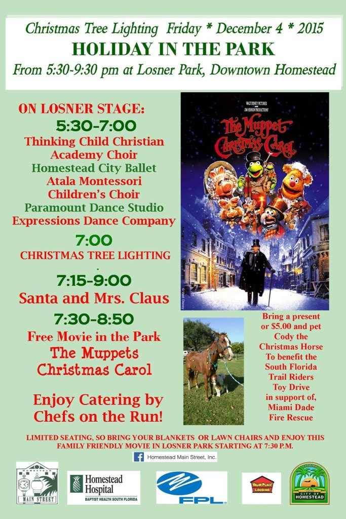 Homestead Main Street Holiday in the Park Poster